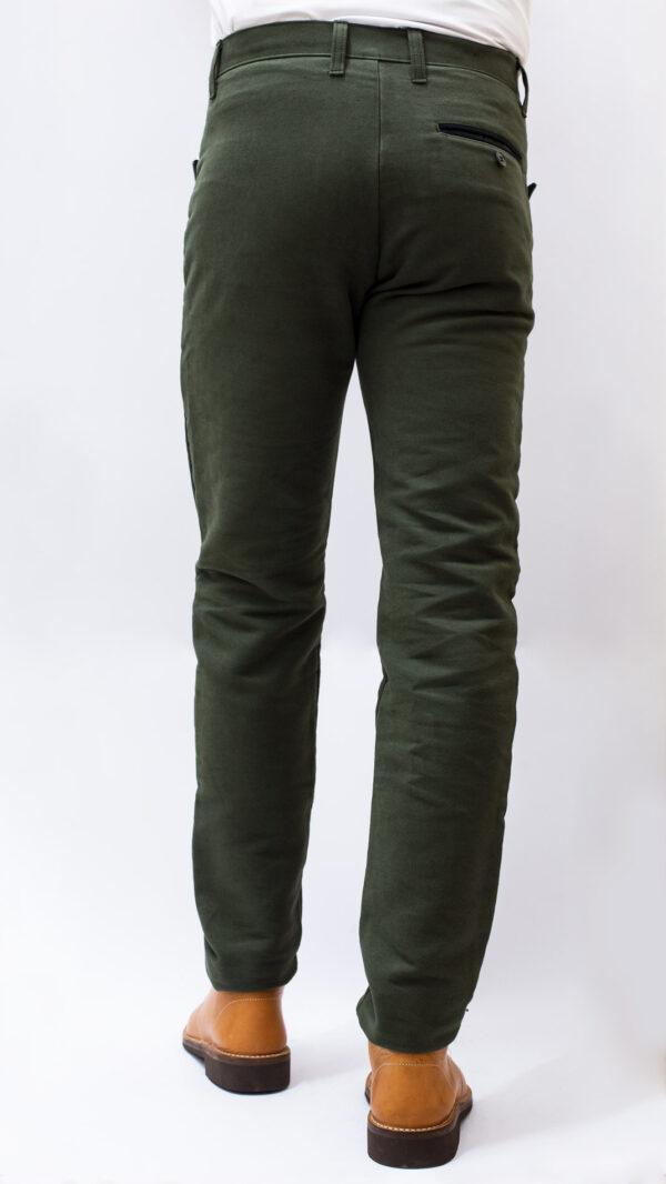 Pantaloni-fustagno-verde