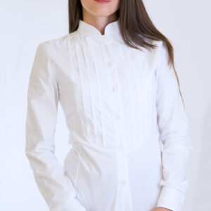 Camicia sarda da donna con pieghe