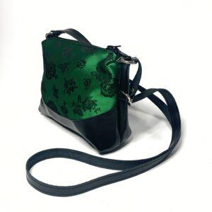 borsa-tracolla-pelle-broccato-verde